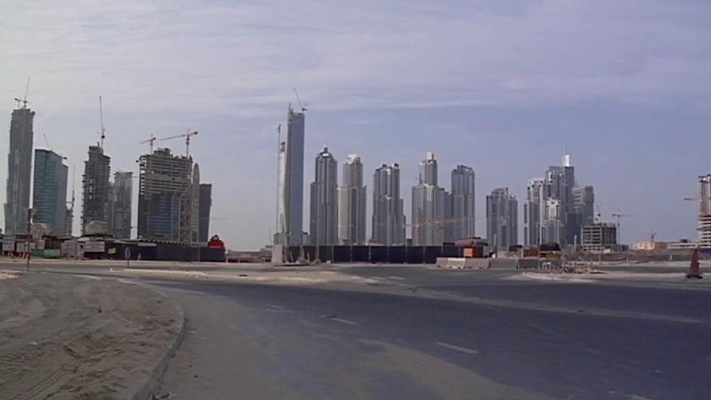 Stavební práce na Palmovém ostrově v Dubaji