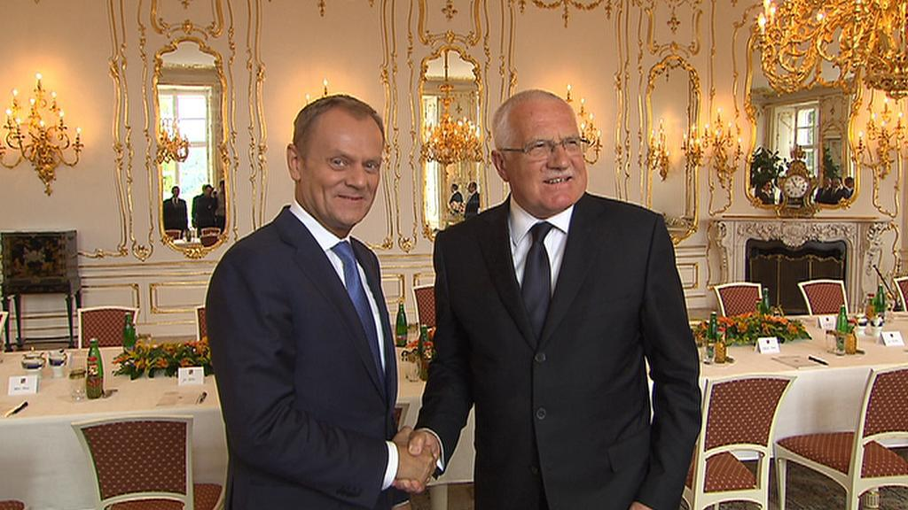 Donald Tusk a Václav Klaus