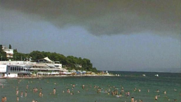 Požár na chorvatském ostrově Brać