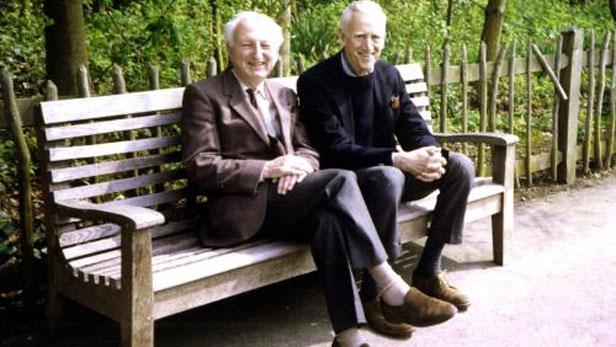 Donald Hartog a J. D. Salinger (vpravo)