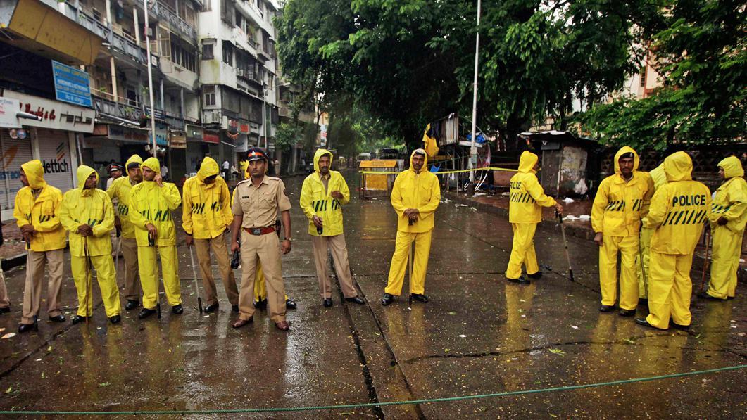 Policejní hlídka v Indii