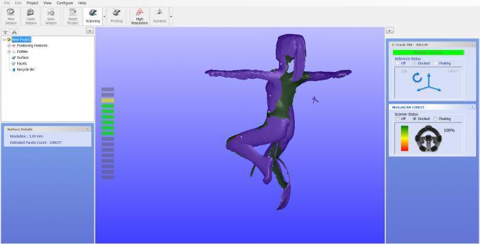 3D smodel vytvořený pomocí 3D scanneru