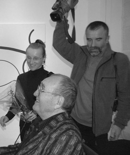 Zdeněk Sýkora s manželkou Lenkou a režisér Jaroslav Brabec