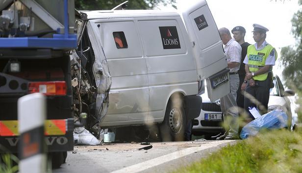 Nehoda dodávky u Vílance
