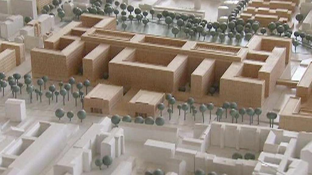 Model nové budovy BND