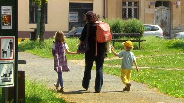 Děti s matkou