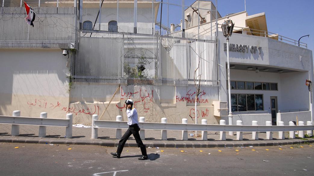 Demonstranti napadli velvyslanectví USA v Sýrii
