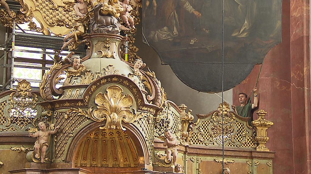 Oltářní obraz v kostele sv. Jiljí