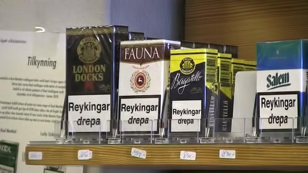 Prodej cigaret na Islandu