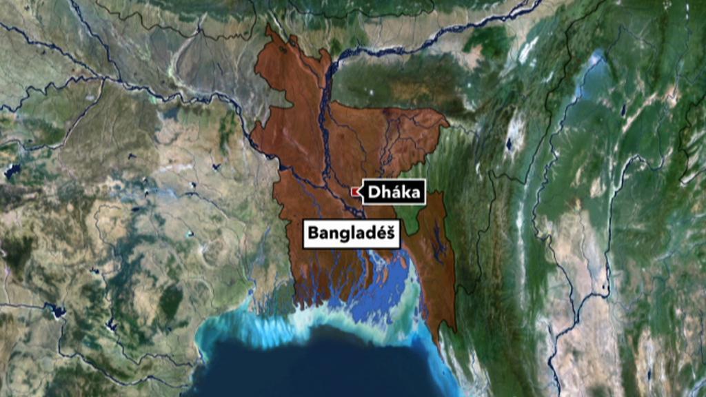 Mapa - Bangladéš