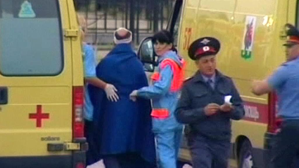 Záchranáři pečují o cestující z praníku Bulgaria
