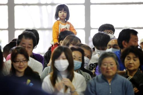 Evakuační centrum v Japonsku