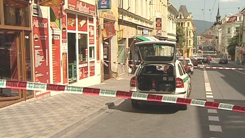 Policie zasahovala v centru Teplic