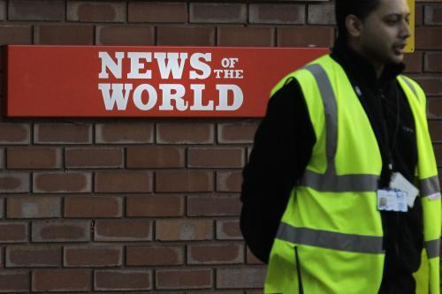 Policie hlídá redakci nedělníku News of the World