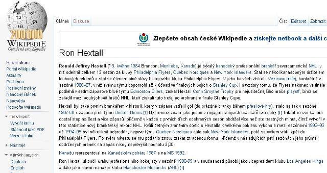 200 000. článek na české Wikipedii