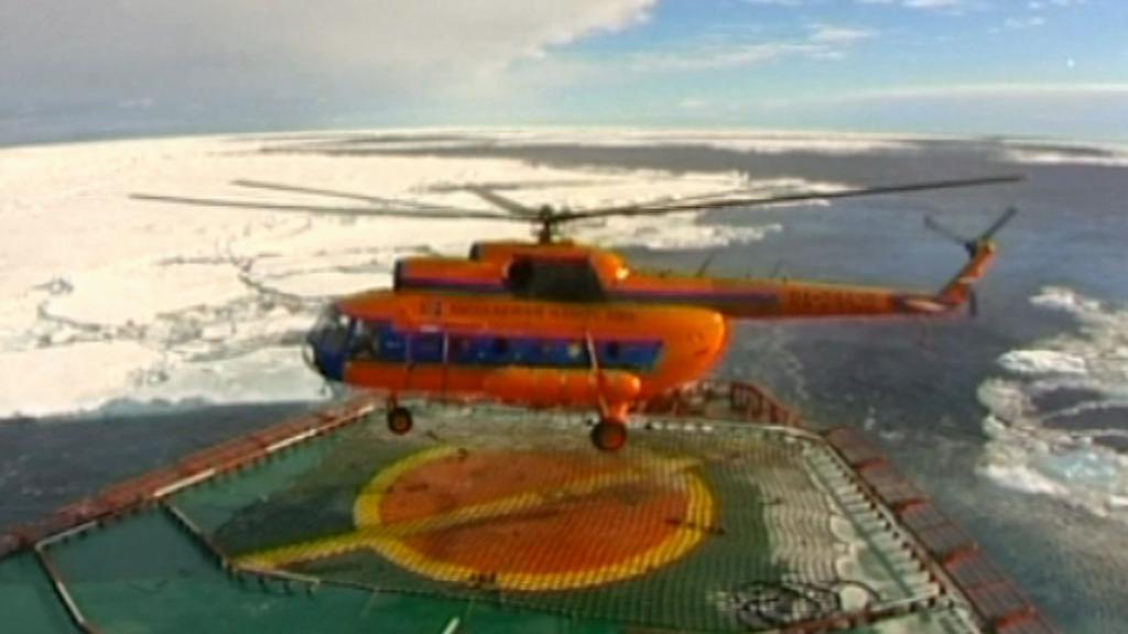 Průzkumný let nad Arktidou