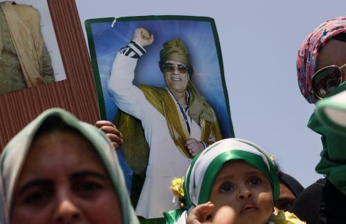 Pochod Libyjců na podporu Muammara Kaddáfího
