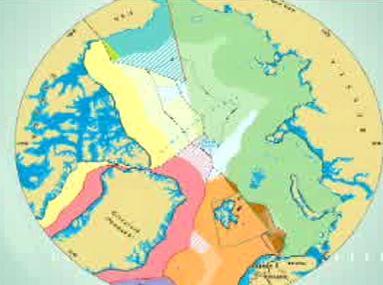 Nová mapa rozdělující oblast severního pólu