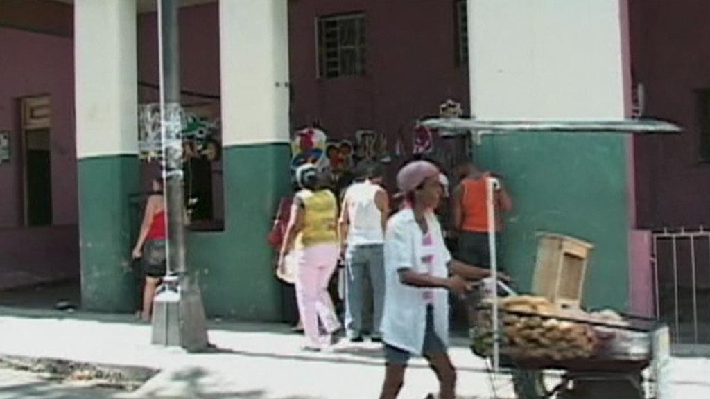Pouliční prodej na Kubě