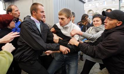 Střety při protestech běloruské opozice