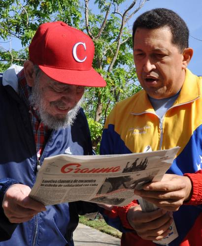 Fidel Castro a Hugo Chávez