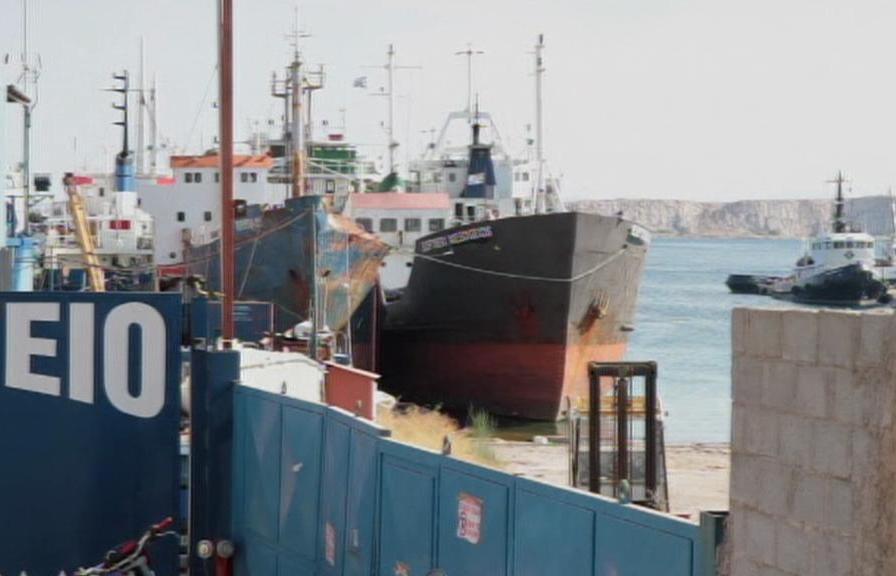 Lodě v přístavu Pireus