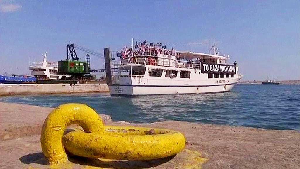 Loď mířící do pásma Gazy