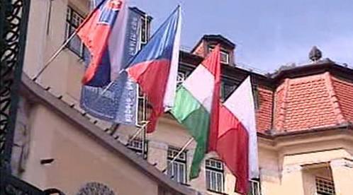 Vlajky zemí visegrádské čtyřky