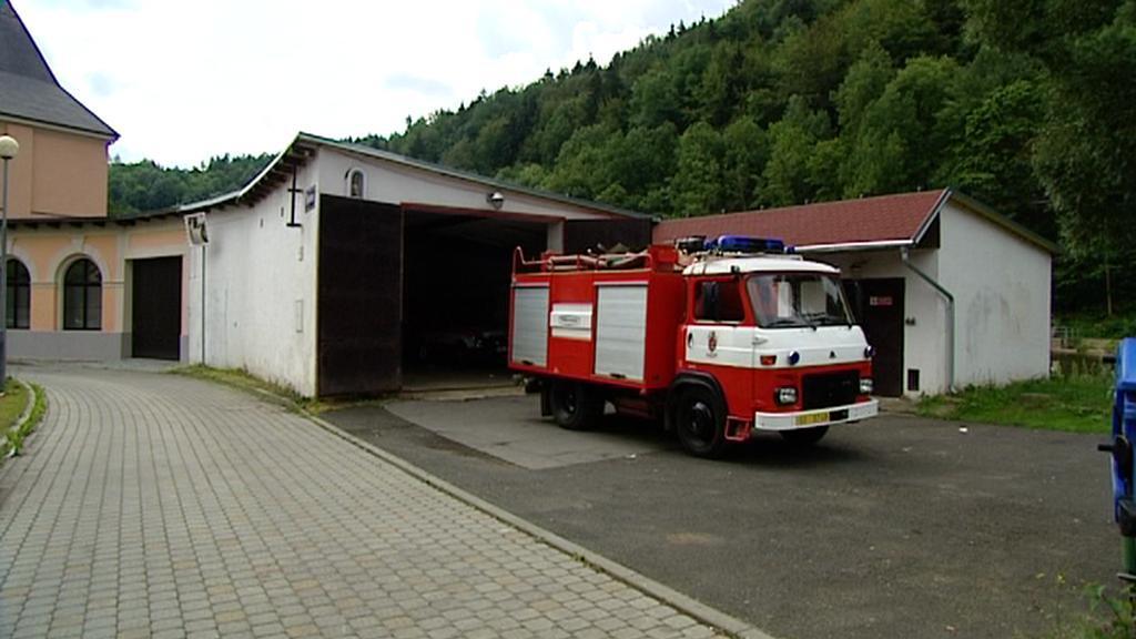 Starší typ hasičského auta