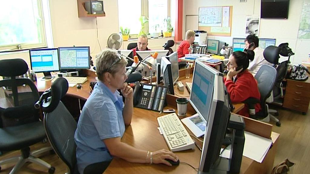 Centrální dispečink záchranářů v Plzni
