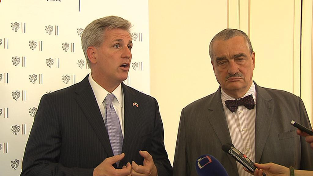 Americký kongresman Kevin McCarthy a Karel Schwarzenberg