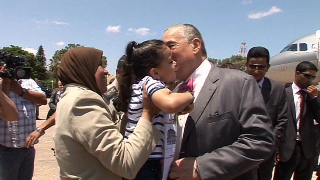 Ministr zahraničí Karel Schwarzenberg na návštěvě v Lybii