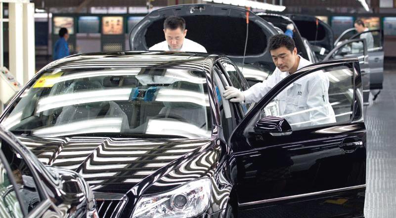 Výroba vozidel značky Škoda