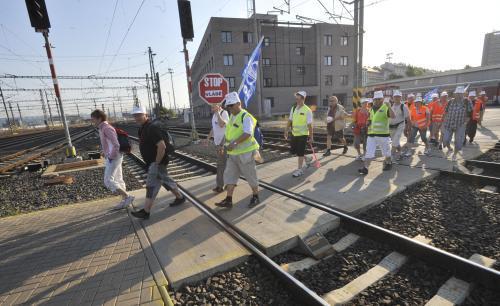 Stávkující dopraváci