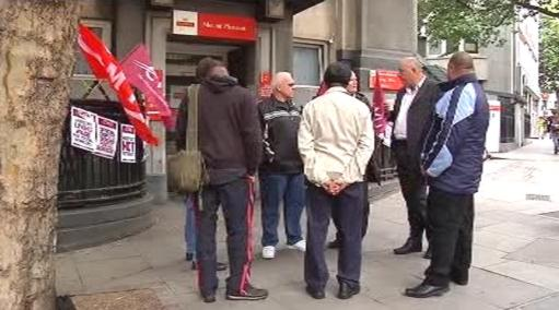 Stávkující v Londýně
