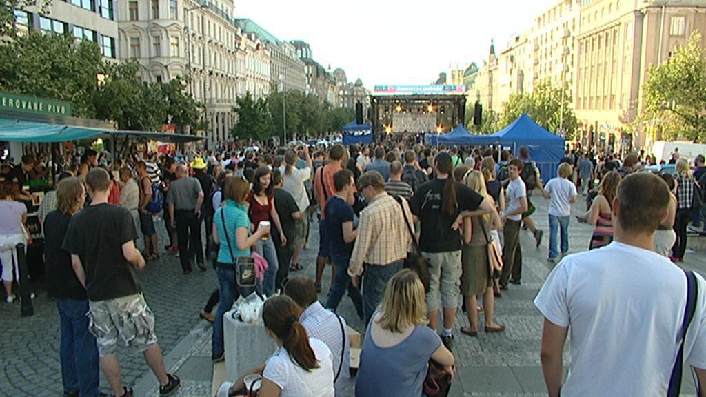 Koncert zakončující Týden svobody na Václavském náměstí