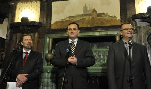 Lídři koaličních stran