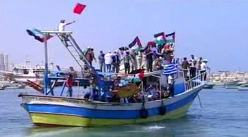 Loď z humanitárního konvoje