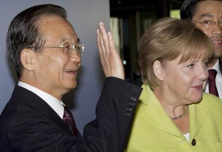 Wen Ťia-pao a Angela Merkelová