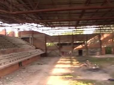 Rozestavěná sportovní hala v Pardubicích