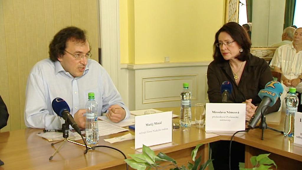 Matej Mináč a Miroslava Němcová