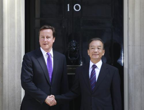 David Cameron a Wen Ťia-pao