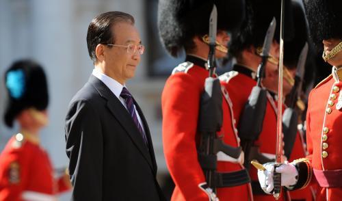 Wen Ťia-pao na návštěvě Velké Británie