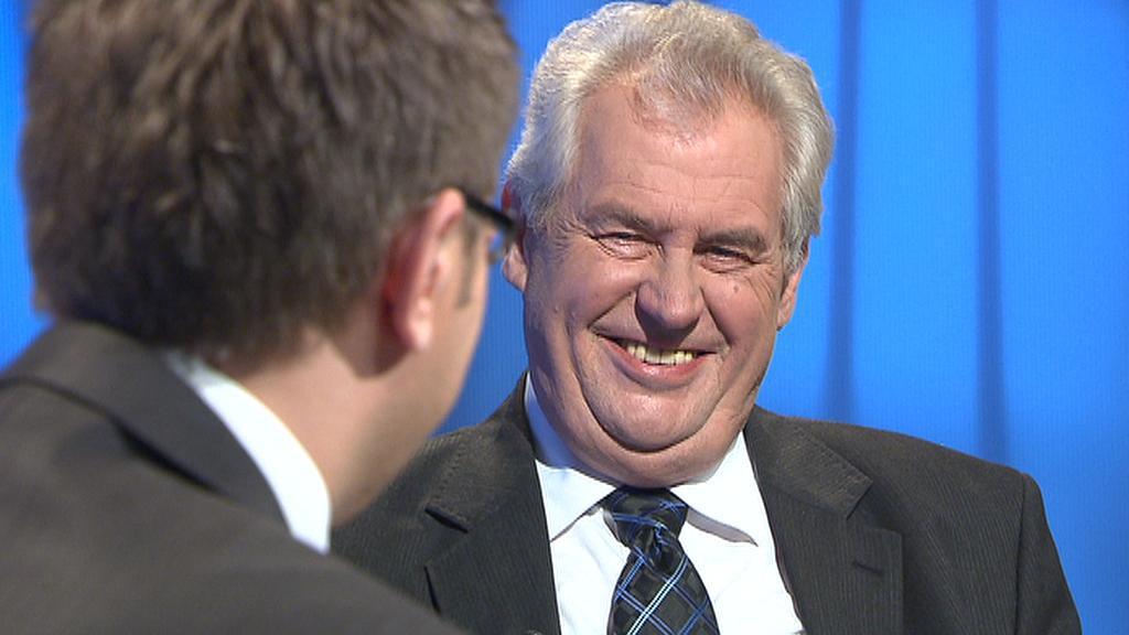 Miloš Zeman v Otázkách Václava Moravce