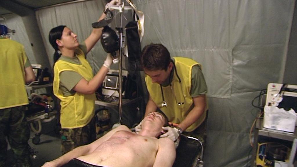 Cvičení polní nemocnice