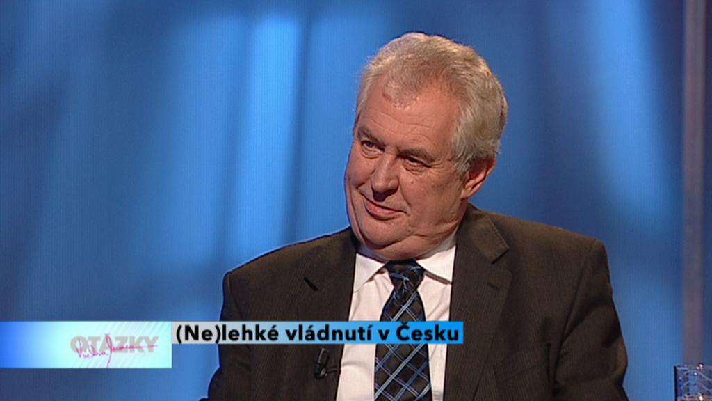 Expremiér Miloš Zeman