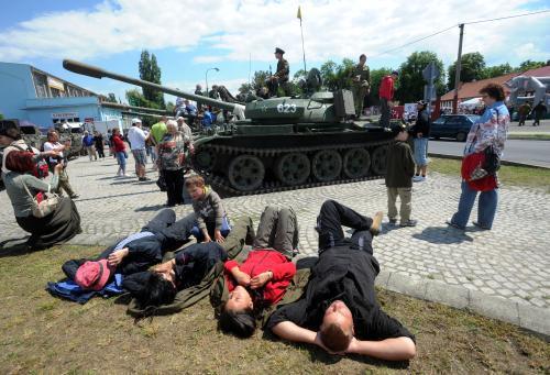 OSlavy odchodu sovětské armády v Milovicích