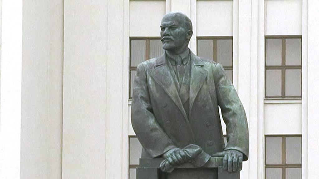 Leninova socha v Minsku