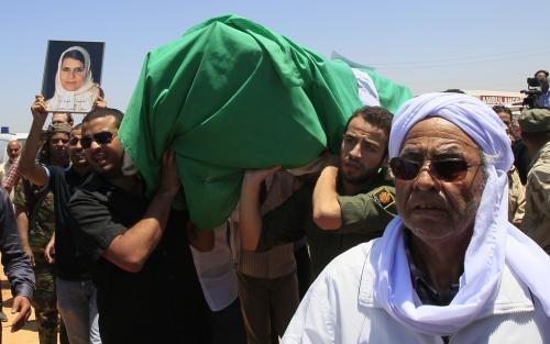 Pohřeb libyjské oběti náletu NATO