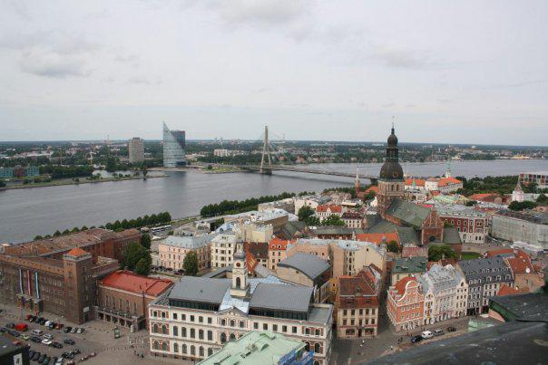 Centrum Rigy a řeka Daugava